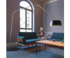 Serien Lighting Central Floor LED Stehleuchte mit Dimmer B: 240 H: 230 cm, edelstahl gebürstet/schwarz CE1011, EEK: A+