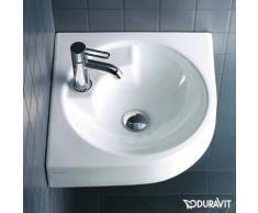 Duravit Architec Eck-Waschtisch B: 63,5 T: 54 cm weiß, mit WonderGliss, mit 1 Hahnloch 04484500001