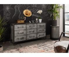 Sideboard Mango 150x45x80 grau lackiert HEAVY INDUSTRY #118