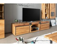 TV-Board Wildeiche / Zerreiche 220x48x50 natur geölt NEW AMSTERDAM #03