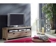 TV-Board Sheesham 140x37x50 grau geölt NATURE GREY #153