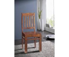 Kolonialmöbel Stuhl Lehne mit Muster Akazie massiv Möbel OXFORD #16