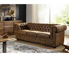 Sofa Chesterfield 203x86x72 braun OXFORD