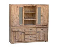 Sheesham Holz massiv Highboard Palisander Möbel NATURE BROWN #860