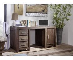 Schreibtisch Sheesham 150x75x78 grau lackiert METRO POLIS #119