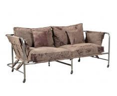 1920s ORIGINAL Sofa 2 Sitzer #129 Canvas und Eisen
