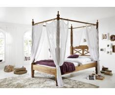 Palisander Holz massiv Himmelbett 160x200 Sheesham Möbel NATURE BROWN #531