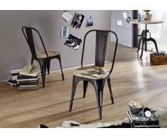 FACTORY Stuhl #134, Eisen u. Massivholz