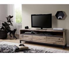 TV-Board Wildeiche 170x40x56 bianco geölt VILLANDERS #214
