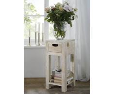 NATURE WHITE Beistelltisch #31 Akazie lackiert Möbel