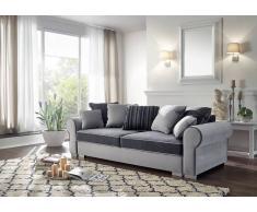 Sofa DELUXE COMFORT mit Schlaffunktion u. Bettkasten grau