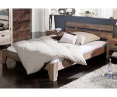 Sheesham Holz massiv Bett 180x200 Palisander Möbel NATURE GREY #212