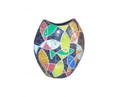 Vase 28x11x32 mehrfarbig DEKO #017