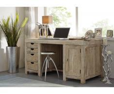 NATURE WHITE Schreibtisch #70 Akazie lackiert Möbel