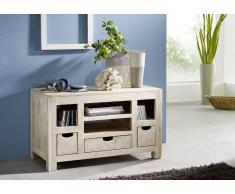 NATURE WHITE Lowboard #46 Akazie lackiert Möbel