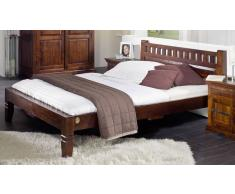 Kolonial Bett 160x200 massiv Akazie Holz OXFORD #229