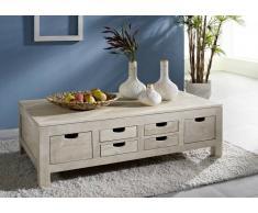 NATURE WHITE Couchtisch #43 Akazie lackiert Möbel