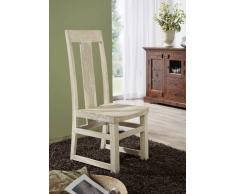 NATURE WHITE Stuhl #122 Akazie lackiert Möbel
