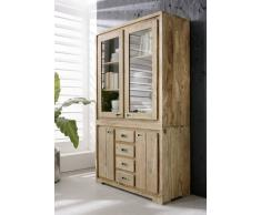 Sheesham Möbel Highboard Palisander Holz massiv NATURE BROWN #858