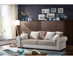 Sofa DELUXE COMFORT mit Schlaffunktion u. Bettkasten beige