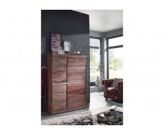 Highboard Sheesham 102x40x147 smoked oak lackiert SYDNEY #202