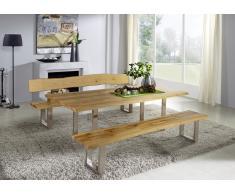 WIEN Baumtisch 200x100 mit Metallfuß Wildeiche massiv geölt