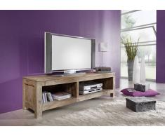 TV-Board Sheesham 148x45x45 grau geölt NATURE GREY #0123