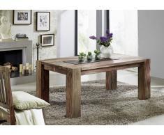 Palisander Holz massiv Esstisch 240x100 Sheesham Möbel MAMMUT NATURE GREY #608
