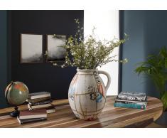 Vase Terrakotta 30x30x45 weiß DEKO #012