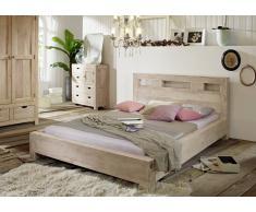 NATURE WHITE Bett #203 140x200cm Akazie lackiert Möbel