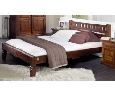 Kolonialstil Bett 140x200 massiv Akazie Holz OXFORD #228