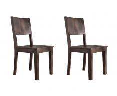 Stuhl Sheesham 45x43x90 grau lackiert METRO POLIS #167, 2er Set