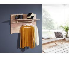 Garderobe Akazie 100x32x60 natur lackiert LIVE EDGE #715