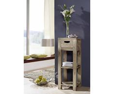 Palisander Massivholz Beistelltisch Sheesham Möbel NATURE GREY #32