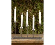 Kerzenständer Aluminium 39x6x23 DEKO #127