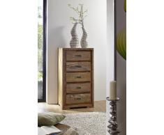 Palisander Holz massiv Kommode Sheesham Möbel NATURE BROWN #853