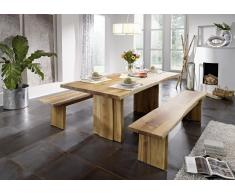 WIEN Baumtisch 180x100 mit Ansteckplatten Wildeiche massiv