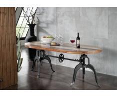 INDUSTRIAL Tisch #04, Eisen u. Altholz