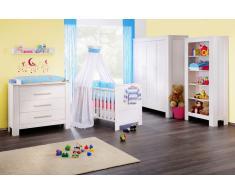 NORA Kinderzimmer Kiefer massiv weiß lackiert