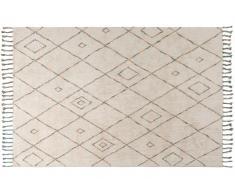 Teppich 110x60 beige/mehrfarbig KAFET