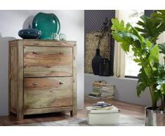 Palisander Holz massiv Schuhschrank Sheesham Möbel NATURE GREY #96