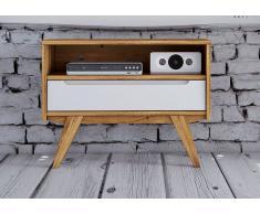 TV-Board Wildeiche 80x38x61 natur geölt/weiß ORIGINAL RETRO #13