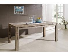 Sheesham Möbel Esstisch 140x90 Palisander Holz massiv NATURE GREY #503