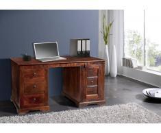 Kolonial Schreibtisch Akazie massiv Holz OXFORD #420