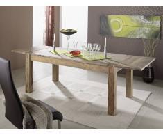 Sheesham Massivholz Esstisch 160x90 mit Ansteckplatten Möbel NATURE GREY #304