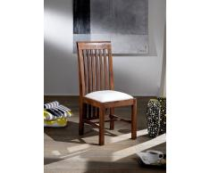 BANGALORE Stuhl #7 noug. Polster weiß