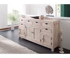 Sideboard Akazie 180x45x95 white stone getüncht NATURE WHITE #84