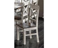 Stuhl Mango / Akazie 45x45x100 weiß gewachst CASTLE-ANTIK #21