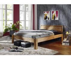 Palisander Massivholz Bett 140x200 Sheesham Möbel NATURE BROWN #520