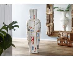 Vase 35x35x100 weiß DEKO #018